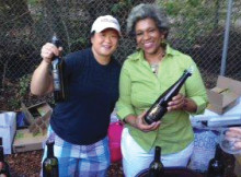 DVINTNER THEO-PATRA WITH FELLOW ATTORNEY AND WINE AFFICIONADA ANGELA LIM, A NATIVE OF HOUSTON TEXAS