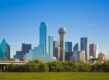 Dallas city skyline, Dallas, Texas