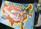 Protestors demanding changes in policing and courts in Ferguson. AP Photo