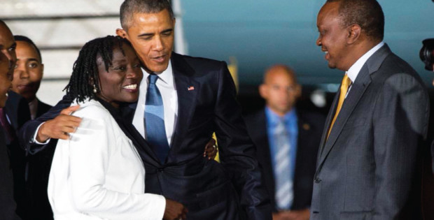 Obama visits father