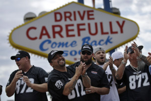 LAS VEGAS WELCOMES RAIDERS WITH OPEN ARMS, BIG HOPES